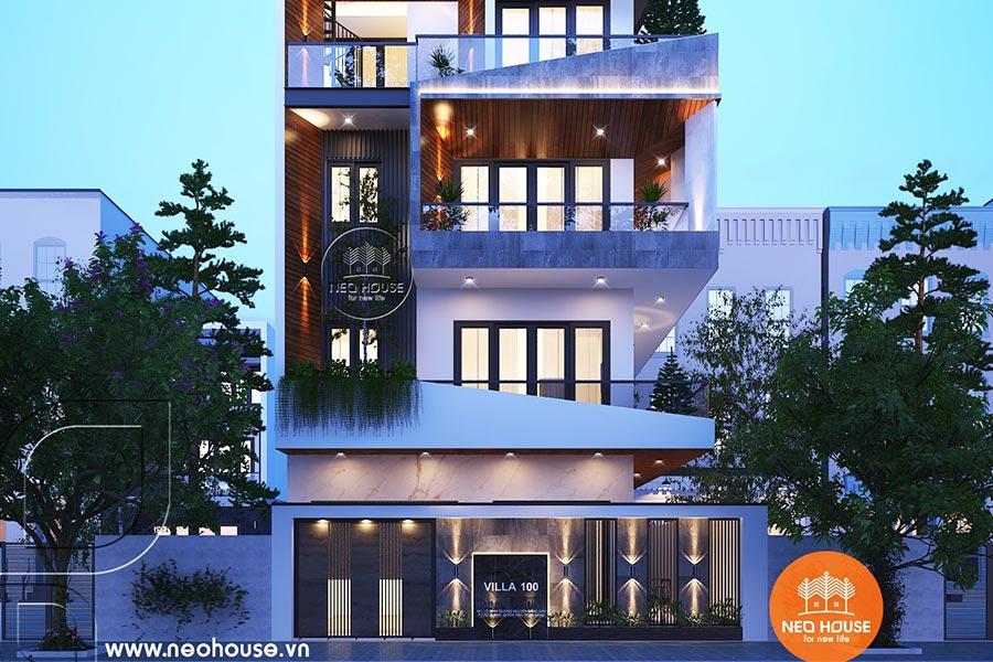 Mẫu thiết kế nhà phố chiều rộng 7m. Ảnh bìa