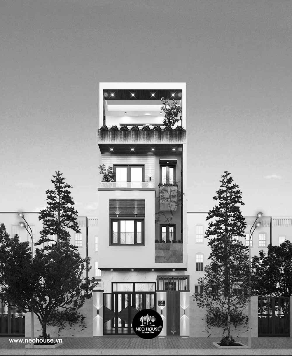 Nhà phố 4 tầng hiện đại. Ảnh 2