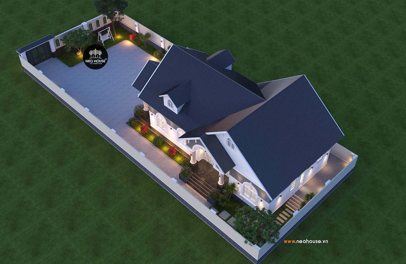 Thiết kế thi công nhà biệt thự vườn 1 tầng 180m2. Ảnh 5