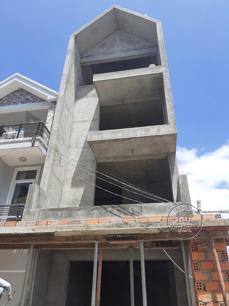 Thi công nhà phố trọn gói với công đoạn hoàn thiện phần thô. Ảnh 4