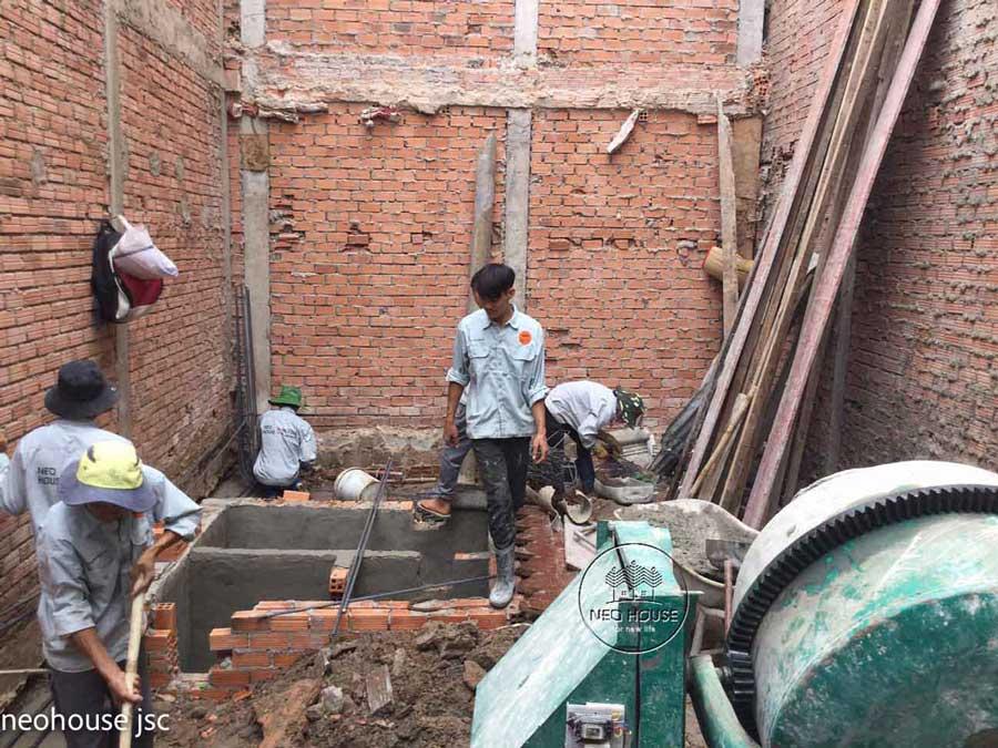 Thi công xây dựng nhà phố tân cổ điển 4 tầng. Ảnh 6
