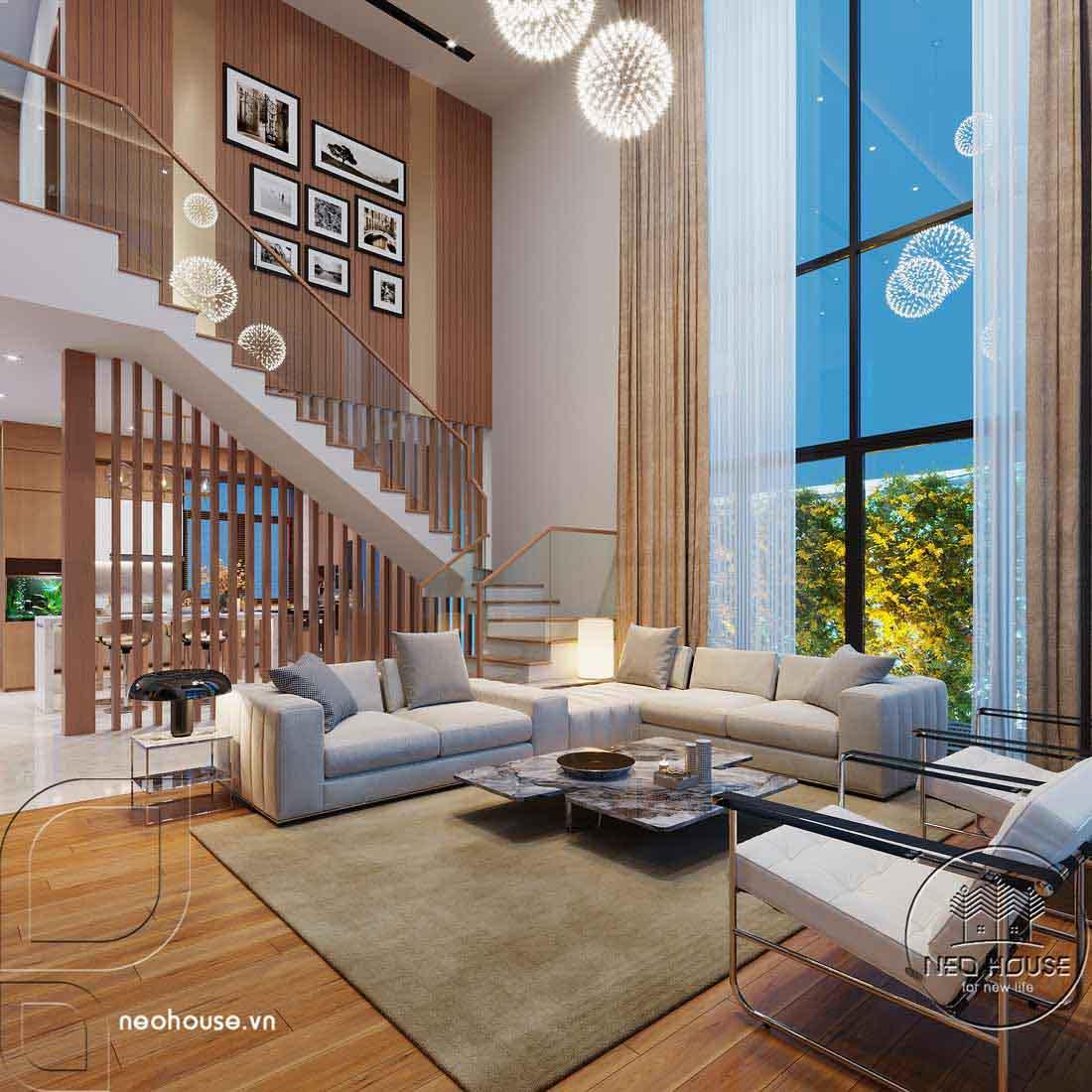 Thiết kế nội thất biệt thự cao cấp 2 tầng. Ảnh 2