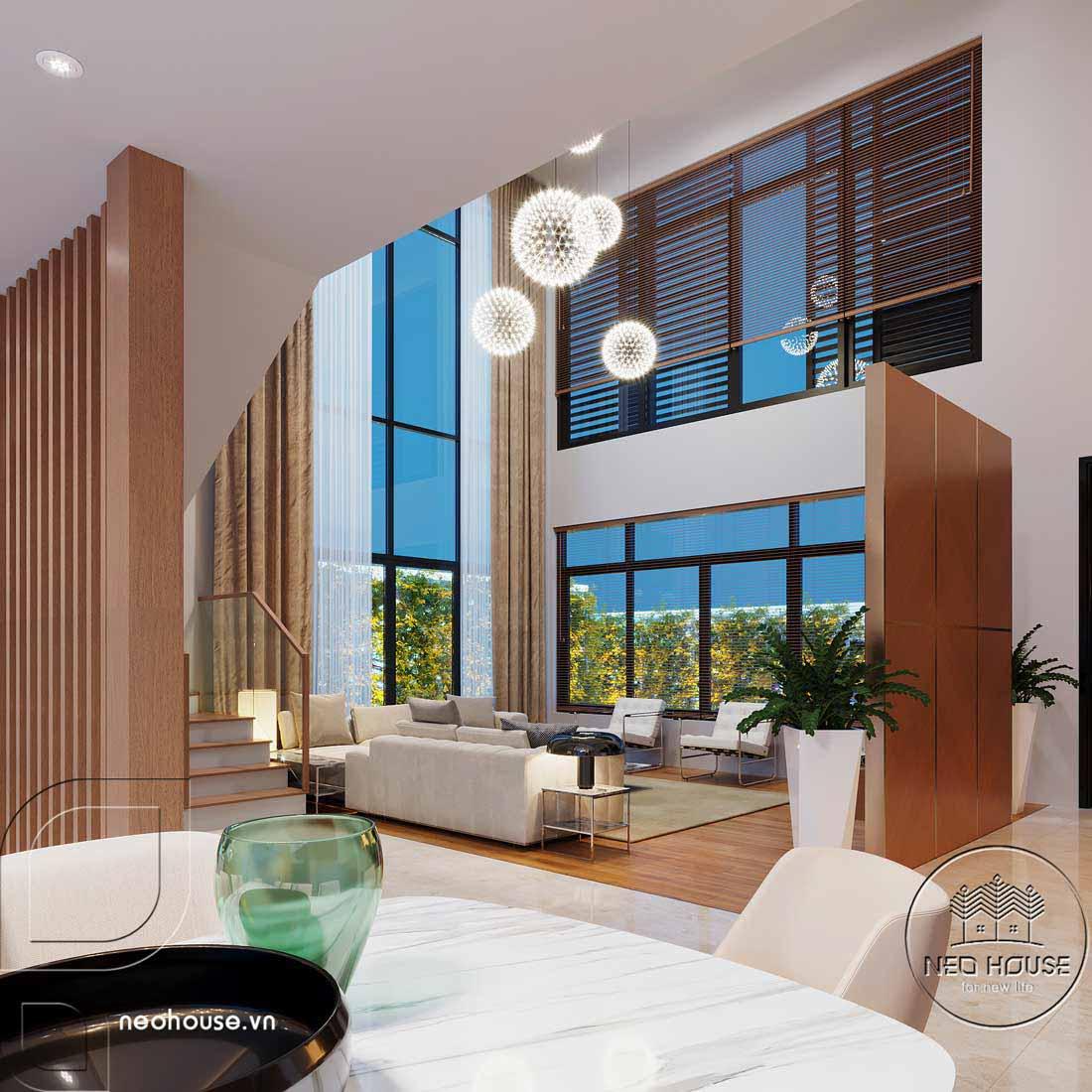 Thiết kế nội thất biệt thự cao cấp 2 tầng. Ảnh 3