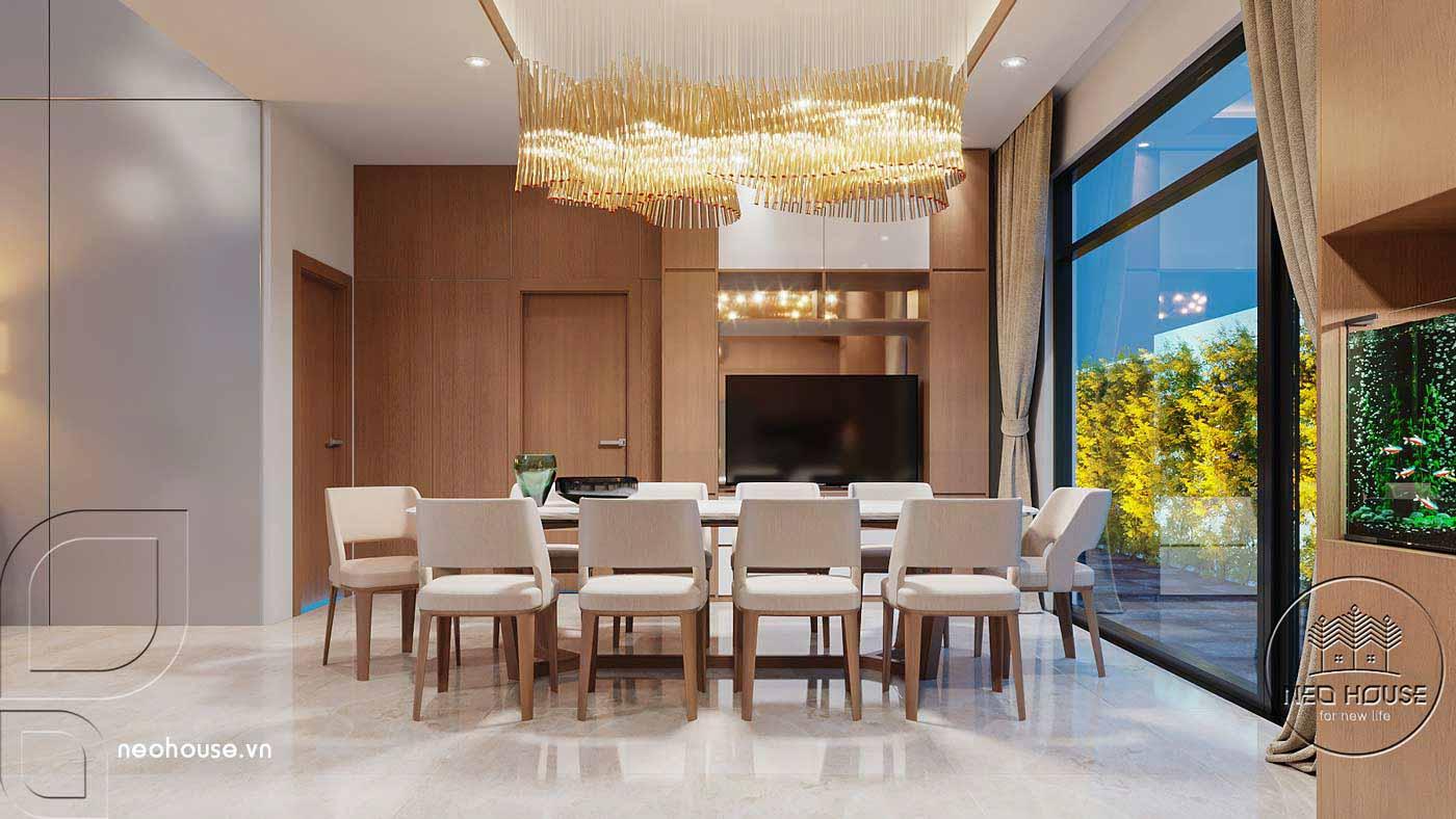 Thiết kế nội thất biệt thự cao cấp 2 tầng. Ảnh 4