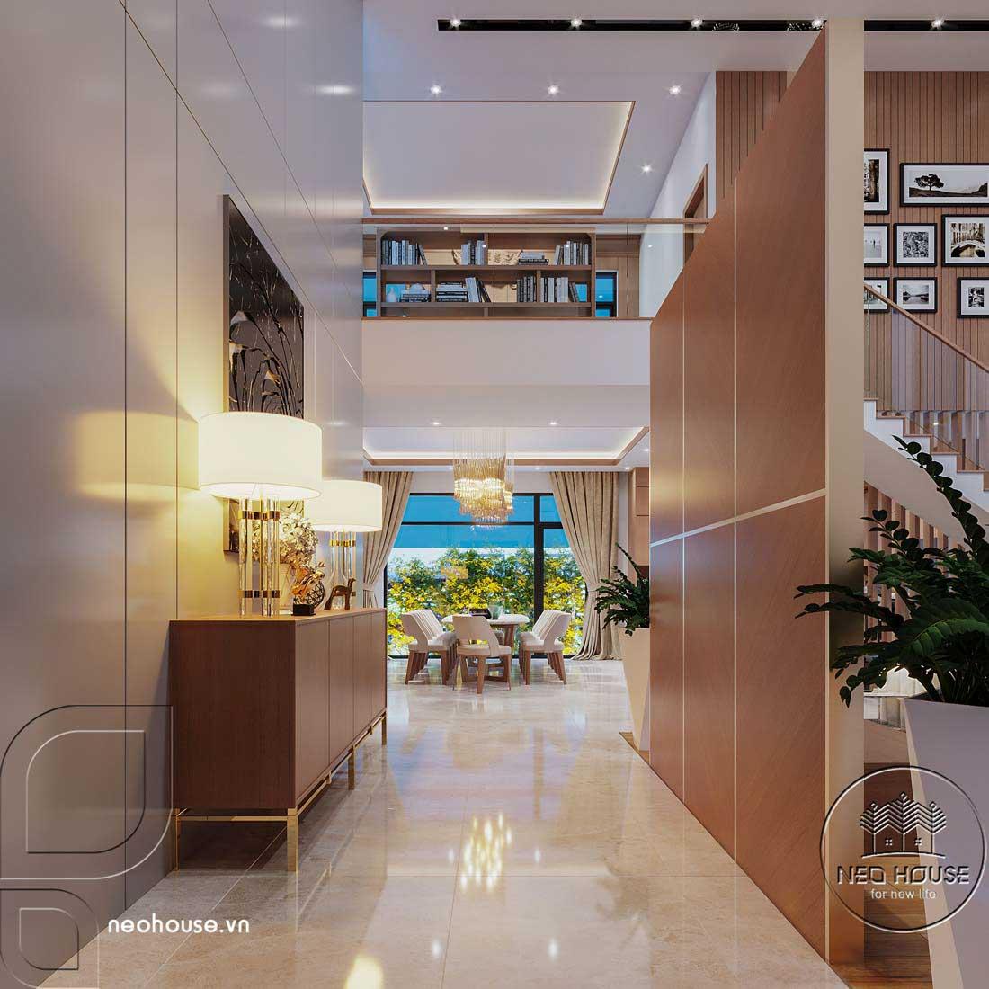 Thiết kế nội thất biệt thự cao cấp 2 tầng. Ảnh 6