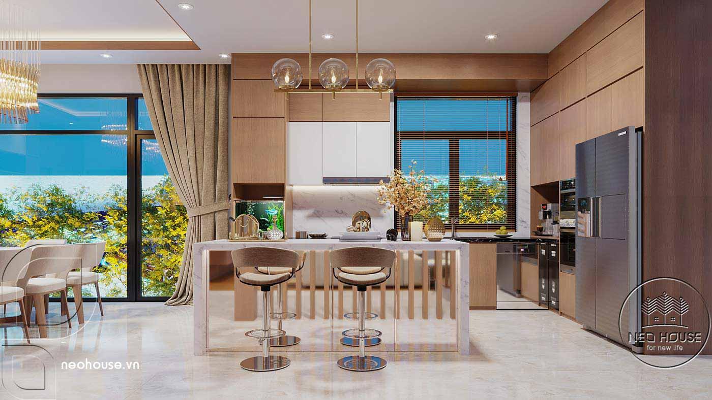 Thiết kế nội thất biệt thự cao cấp 2 tầng. Ảnh 7
