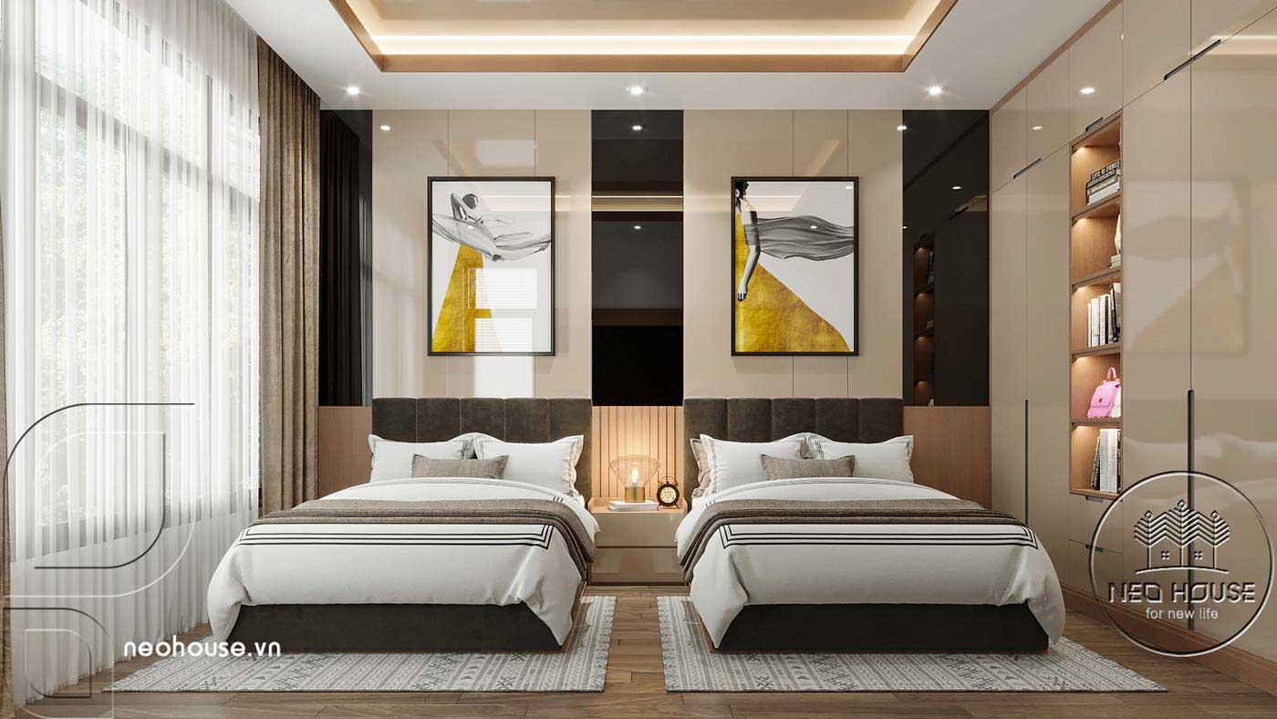 Thiết kế nội thất biệt thự cao cấp 2 tầng. Ảnh 8