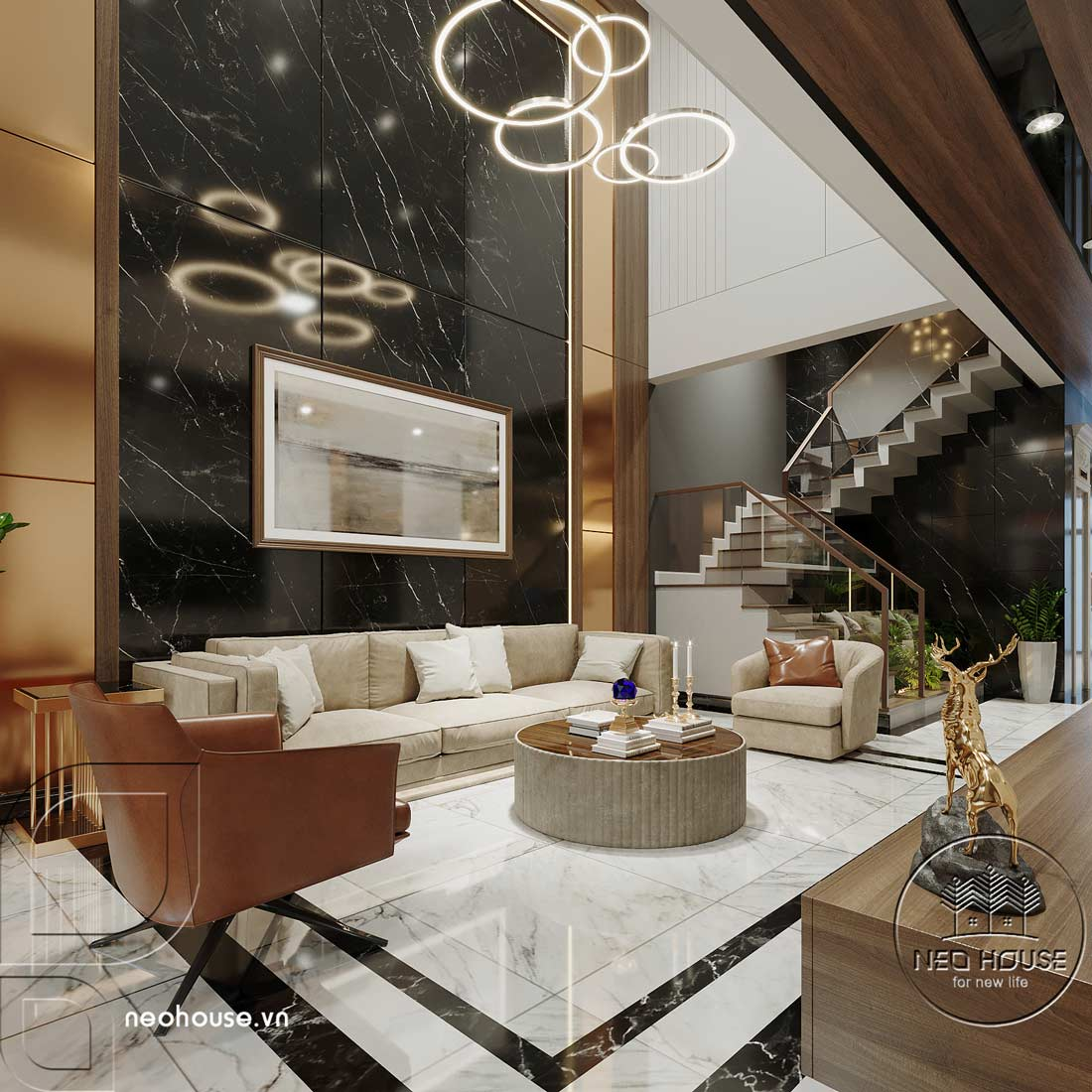 Thiết kế nội thất nhà phố kết hợp kinh doanh văn phòng. Ảnh 3