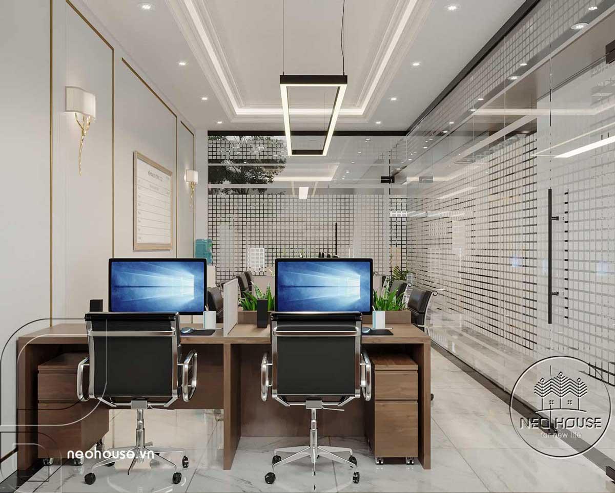 Thiết kế nội thất nhà phố kết hợp kinh doanh văn phòng. Ảnh 1
