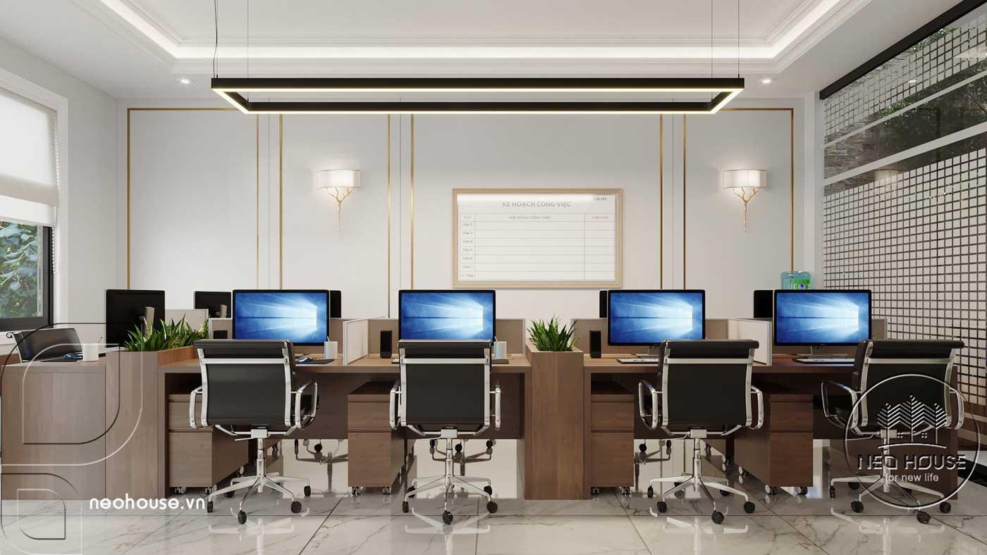 Thiết kế nội thất nhà phố kết hợp kinh doanh văn phòng. Ảnh 2