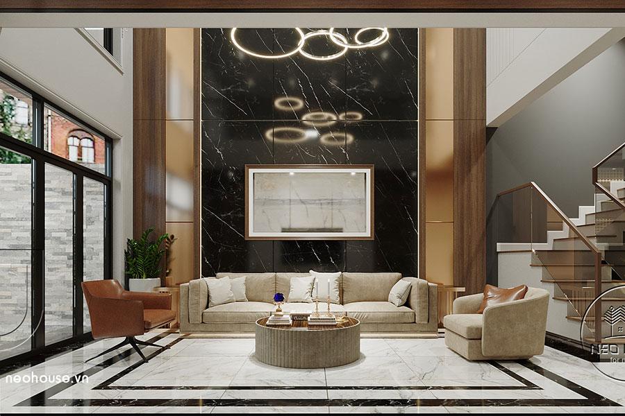 Thiết kế nội thất nhà phố kết hợp kinh doanh văn phòng. Ảnh bìa