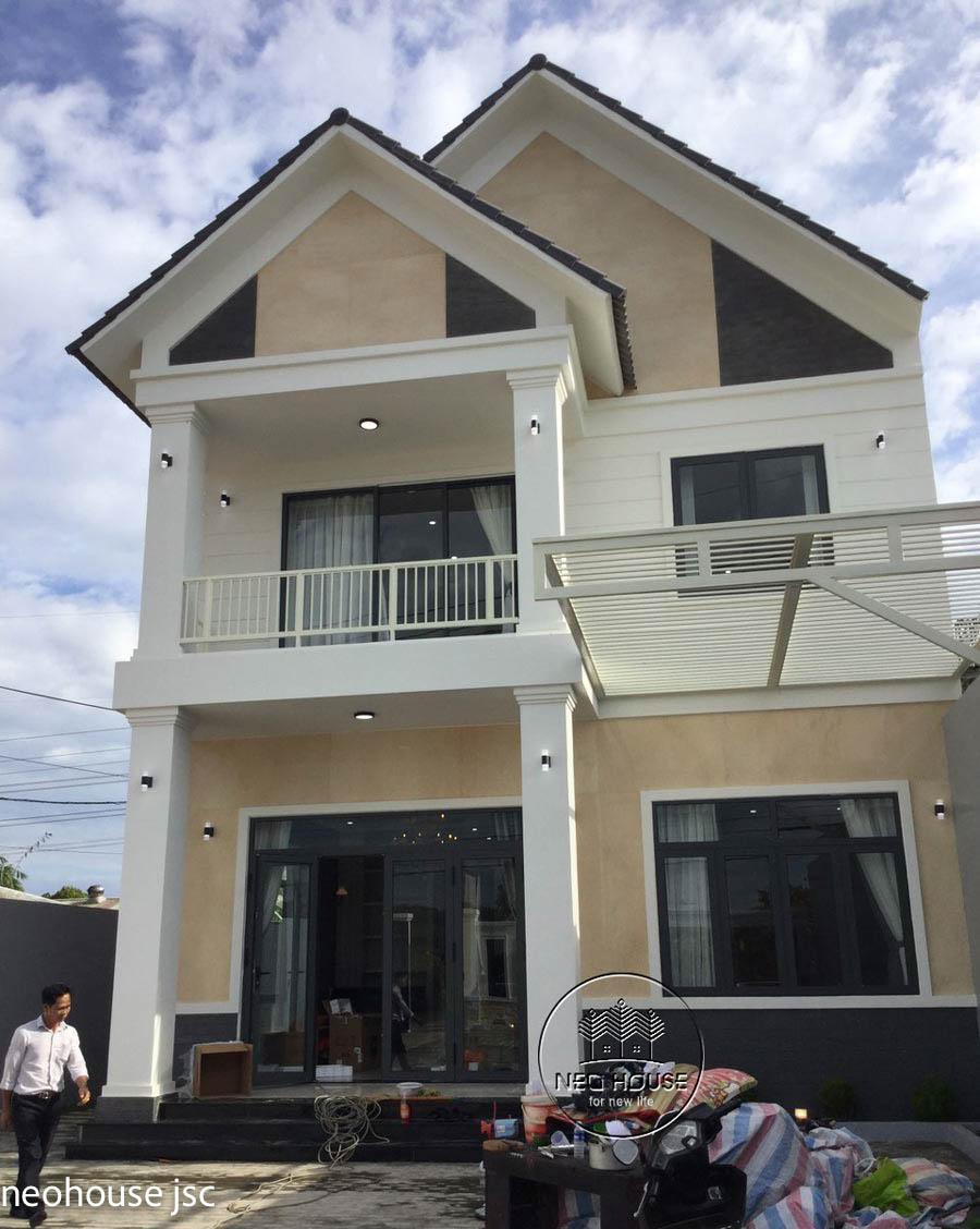 Thi công hoàn thiện nhà đẹp 2 tầng 130m2 tại Bình Phước. Ảnh 1