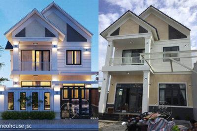 Thiết Kế Thi Công Nhà Đẹp 2 Tầng 4 Phòng Ngủ 130m2 Tại Bình Phước – TC012