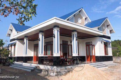 Thiết Kế Và Thi Công Biệt Thự Vườn 1 Tầng Mái Thái Tại Huế – TC013