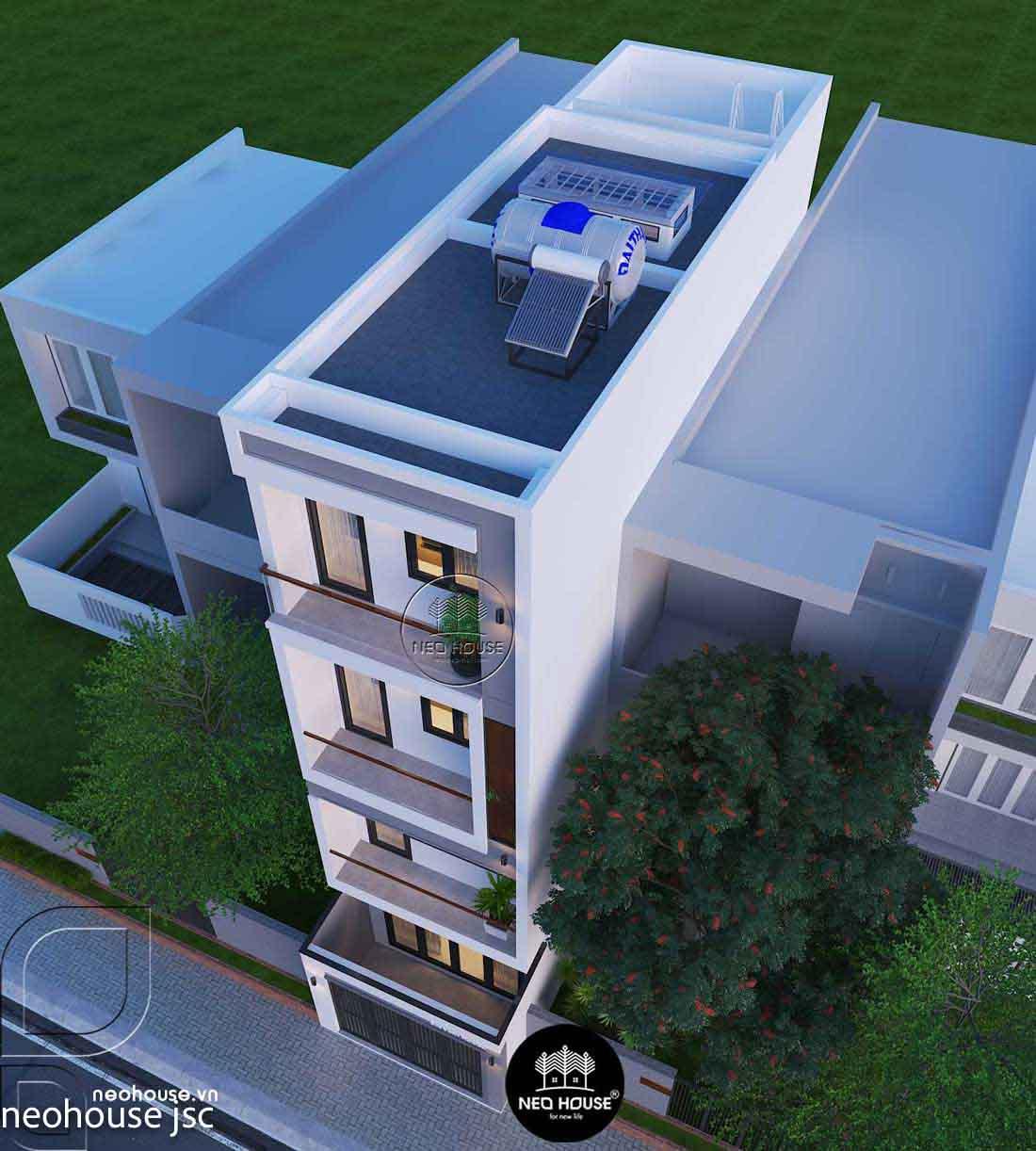 Thiết kế xây dựng nhà phố 4 tầng. Ảnh 2