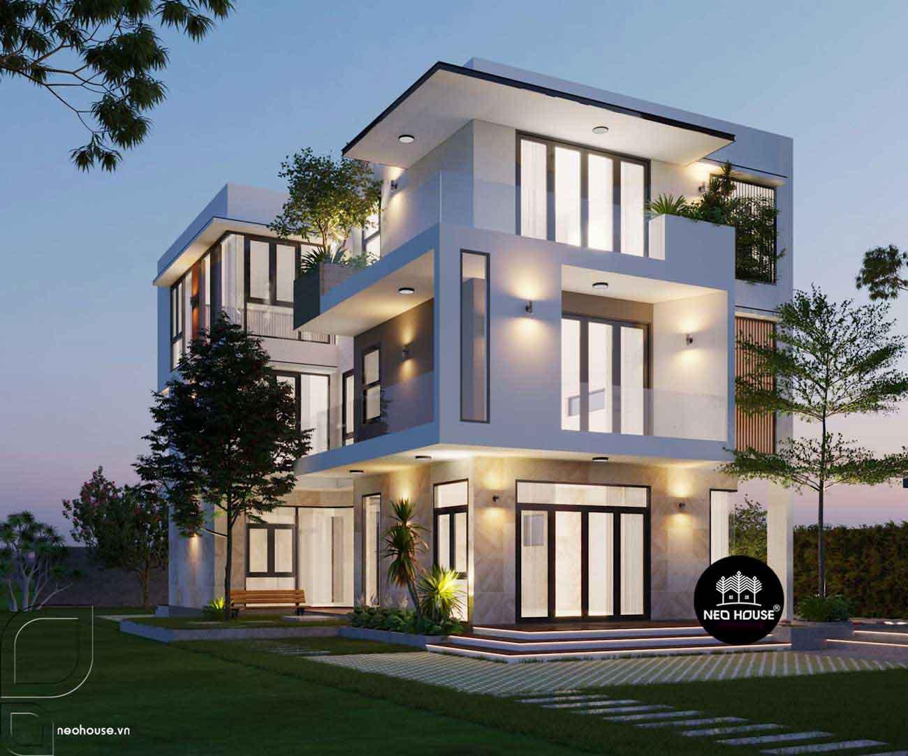 Thiết kế xây dựng biệt thự 3 tầng. Ảnh 1