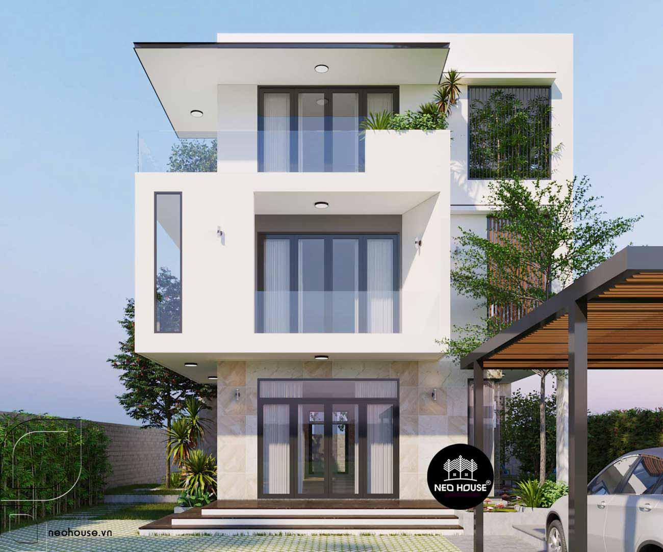 Thiết kế xây dựng biệt thự 3 tầng. Ảnh 3