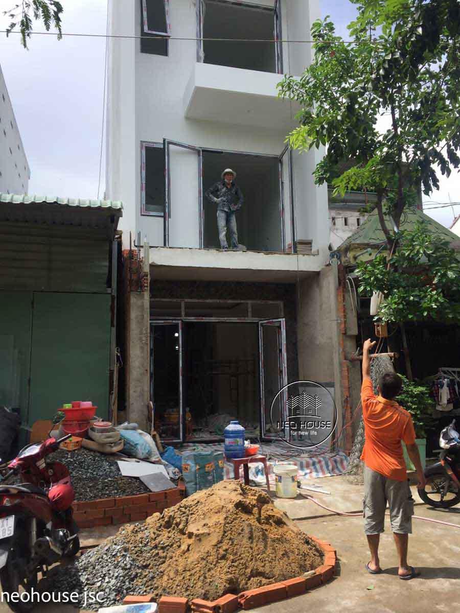 Xây dựng nhà phố trọn gói 3 tầng tại Quận 9. Ảnh 1