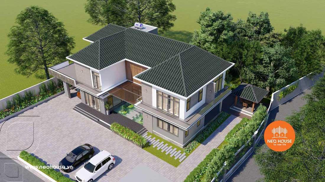 Phối cảnh thiết kế xây nhà biệt thự vườn. Ảnh 4
