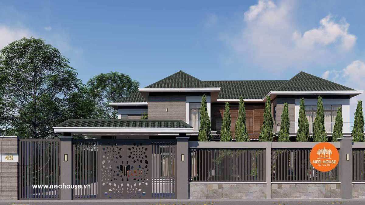 Phối cảnh thiết kế xây nhà biệt thự vườn. Ảnh 6
