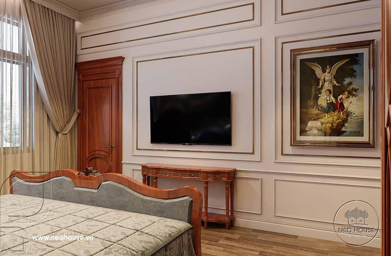 Thiết kế nội thất nhà tân cổ điển 1 tầng. Ảnh 12