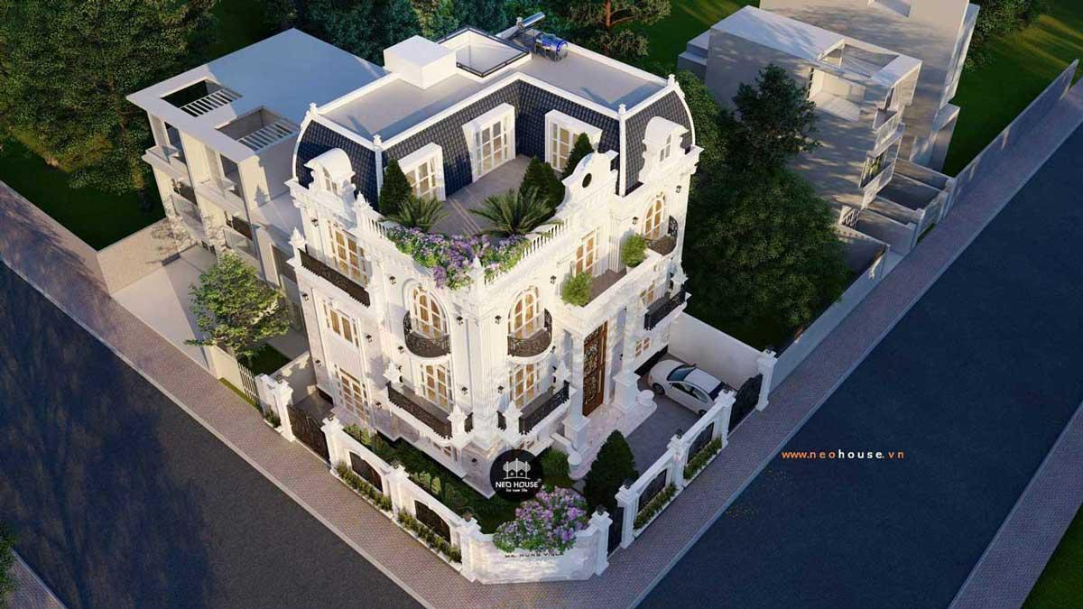Thiết kế biệt thự kiểu Pháp 3 tầng 1 tum. Ảnh 6