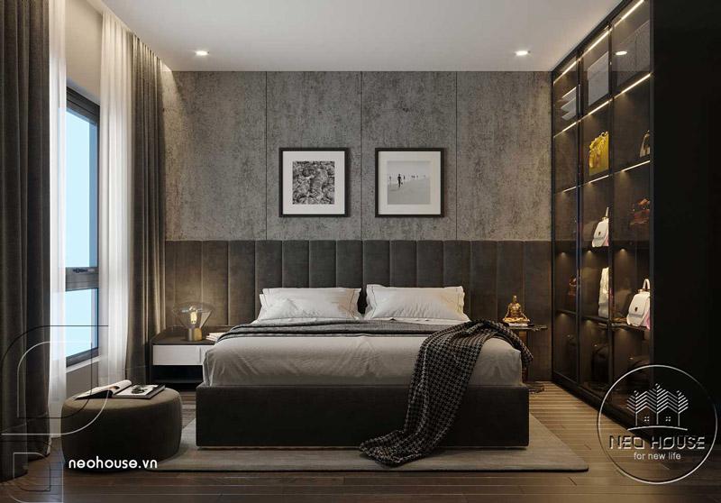 Phòng ngủ master căn hộ chung cư. Ảnh 1