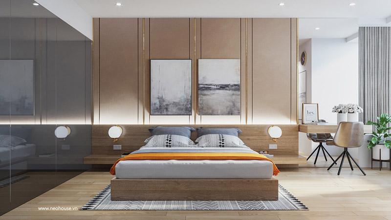 Phòng ngủ master căn hộ chung cư. Ảnh 2
