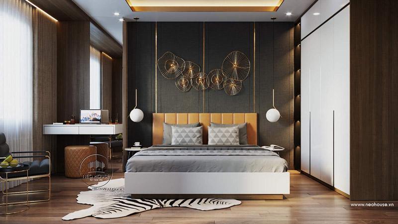 Phòng ngủ master căn hộ chung cư. Ảnh 3
