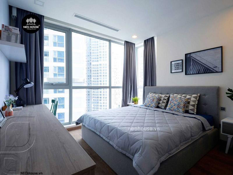 Phòng ngủ master căn hộ chung cư. Ảnh 4