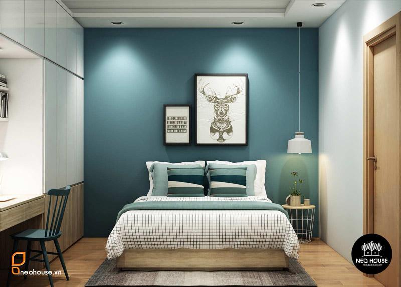 Phòng ngủ master căn hộ chung cư. Ảnh 6