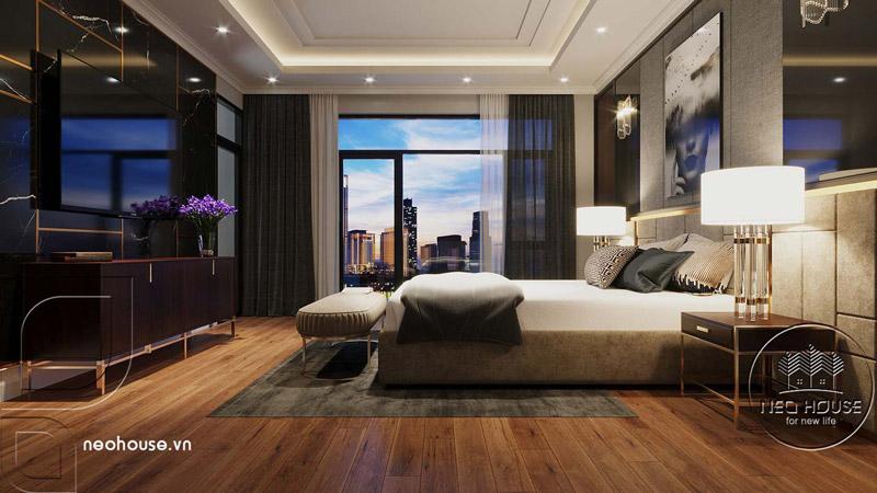 Phòng ngủ master hiện đại. Ảnh 2