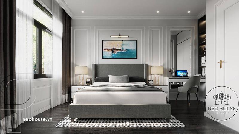 Phòng ngủ master hiện đại. Ảnh 5