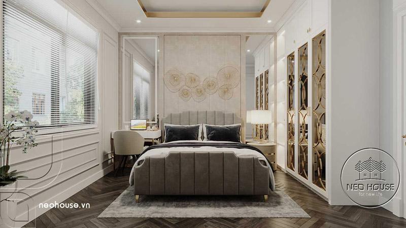 Phòng ngủ master tân cổ điển. Ảnh 3
