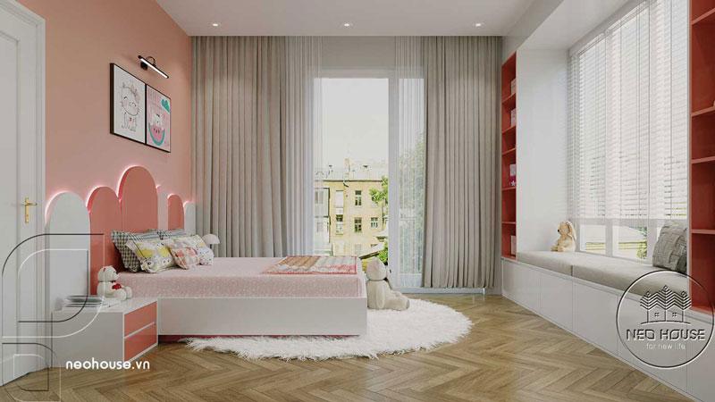 Phòng ngủ màu hồng. Ảnh 1