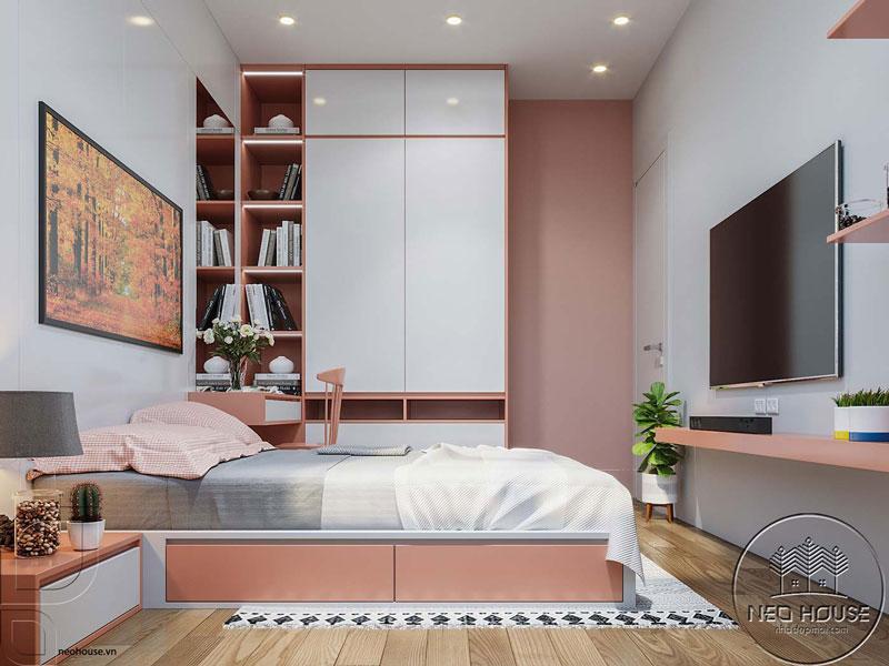 Phòng ngủ màu hồng. Ảnh 10