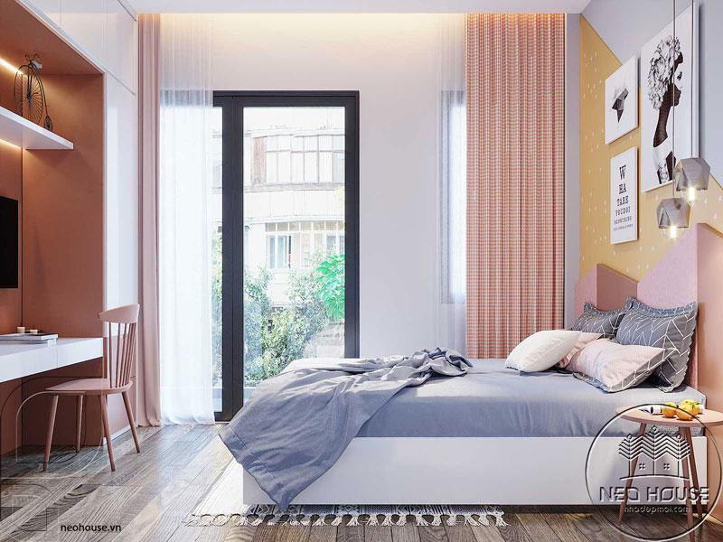 Phòng ngủ màu hồng. Ảnh 11