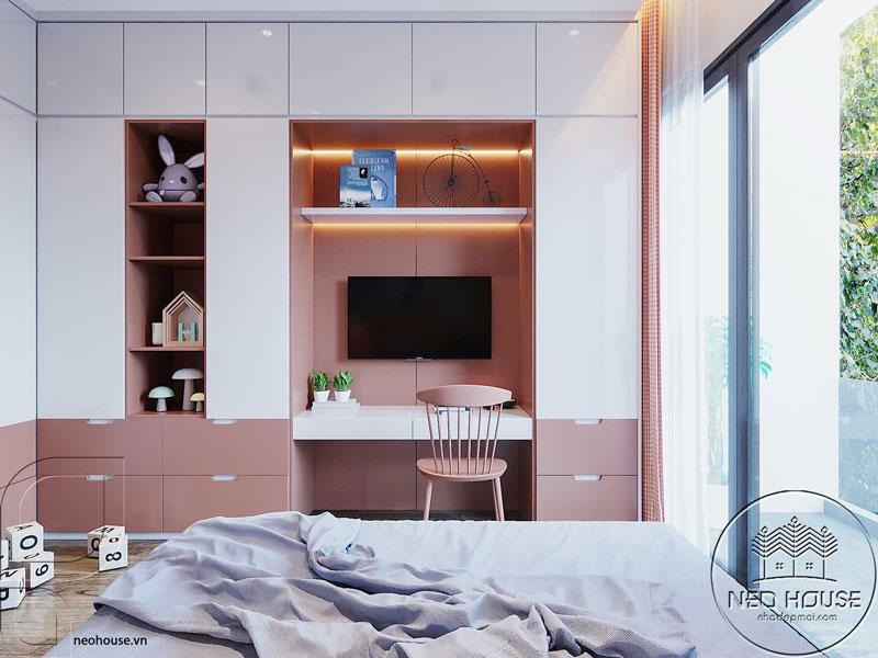 Phòng ngủ màu hồng. Ảnh 12