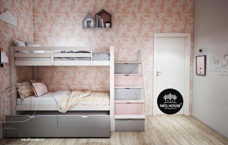 Phòng ngủ màu hồng. Ảnh 13