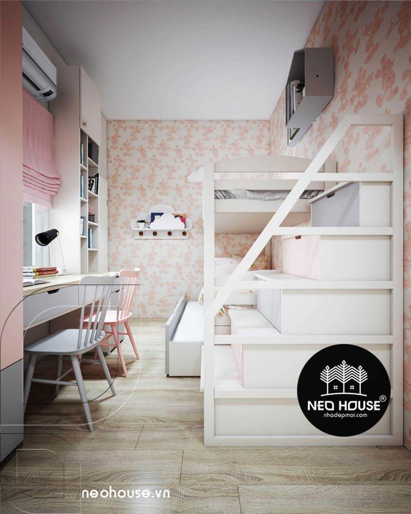 Phòng ngủ màu hồng. Ảnh 14