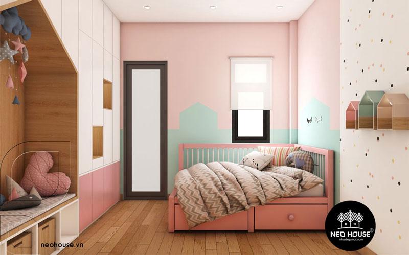 Phòng ngủ màu hồng. Ảnh 16