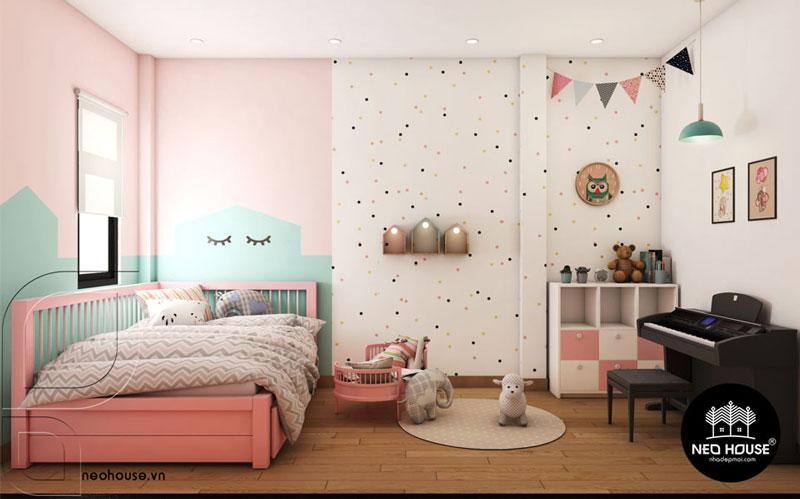 Phòng ngủ màu hồng. Ảnh 17