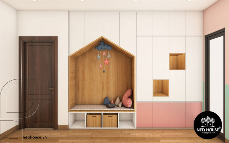 Phòng ngủ màu hồng. Ảnh 18