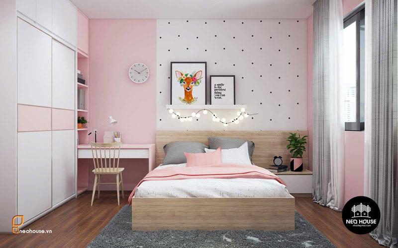 Phòng ngủ màu hồng. Ảnh 19