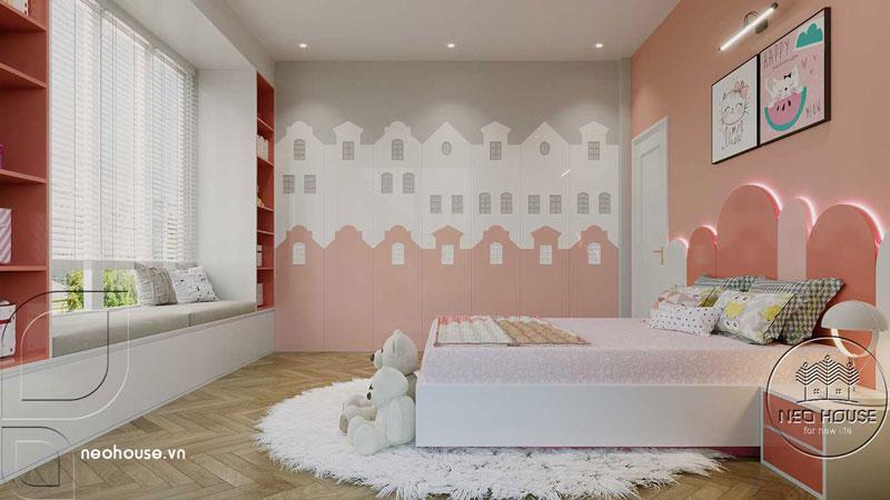 Phòng ngủ màu hồng. Ảnh 2