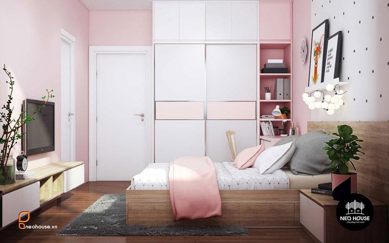 Phòng ngủ màu hồng. Ảnh 20