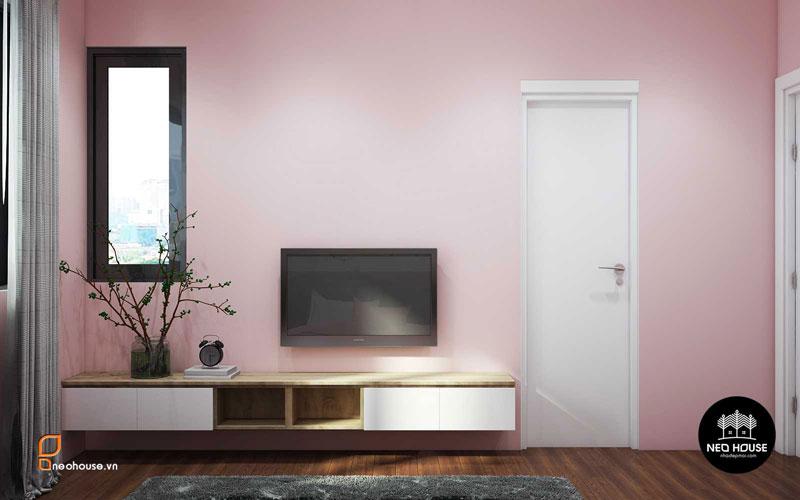 Phòng ngủ màu hồng. Ảnh 21