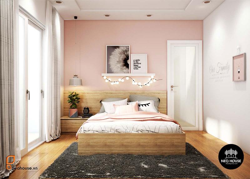 Phòng ngủ màu hồng. Ảnh 22