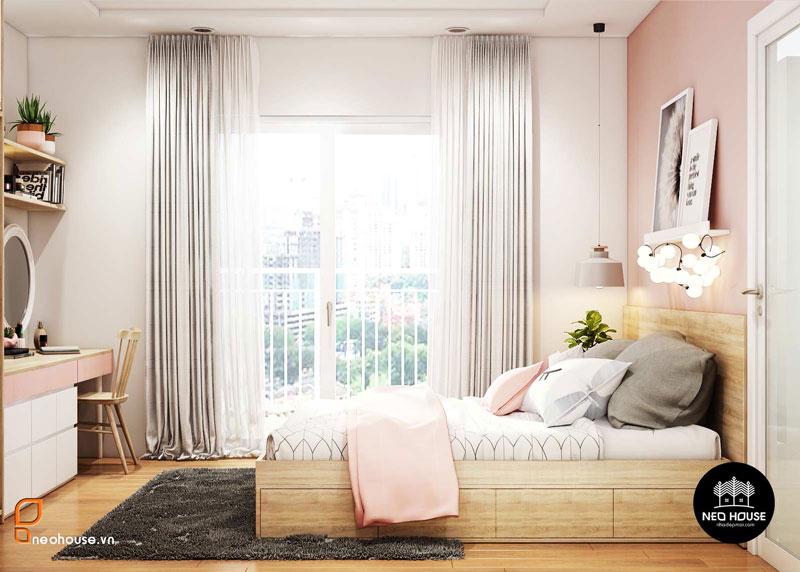 Phòng ngủ màu hồng. Ảnh 23
