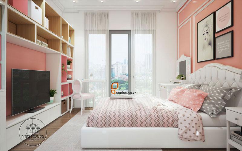Phòng ngủ màu hồng. Ảnh 26